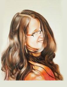 colour pencil shading portrait
