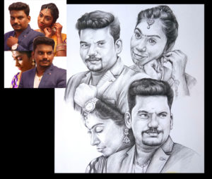 professional pencil art artist chennai